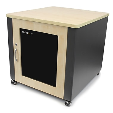 Startech.Com 12U Quiet Office Server Cabinet with Wood Finish/Casters And Fans