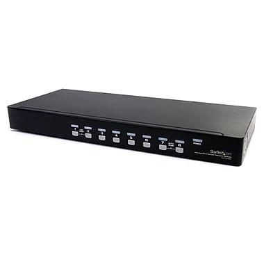 Startech.com – Commutateur USB VGA KVM 8 ports à montage sur rack avec audio (câbles audio inclus)