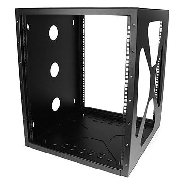 Startech.com – Bâti de serveur à cadre ouvert à 12 unités et à fixation murale latérale, 19 po