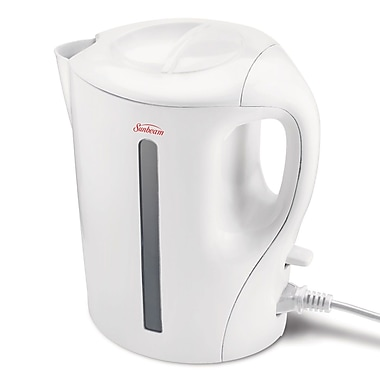 Sunbeam 1.7L Detachable Cord Kettle, White