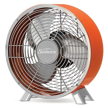 Sunbeam – Ventilateur de table Designer Series Retro, 9 po