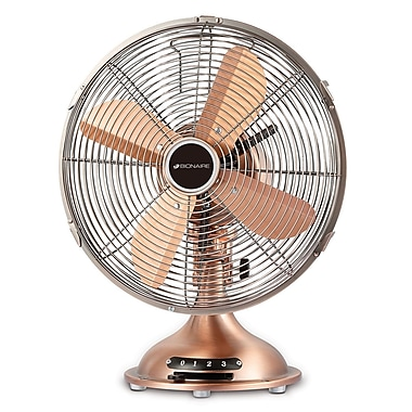 "Bionaire® 12"" Table Fan, All Metal, Bronze"