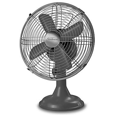 "Sunbeam Designer Series 12"" Metal Table Fan, Graphite"