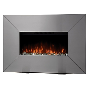 Bionaire® Front Flow Fireplace Heater, Stainless Steel Design
