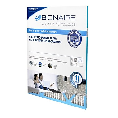 Bionaire – Filtres à fournaise contre les odeurs Merv 11, 20 x 25