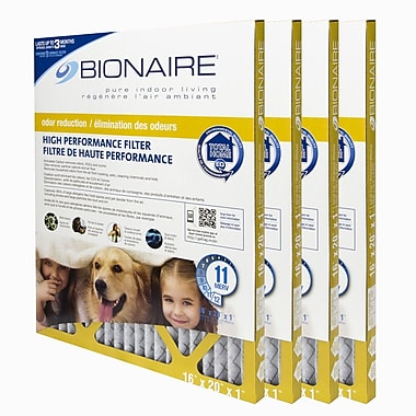Bionaire® Odour Reduction Merv 11 Furnace Filter, 16X20, 4/Pack