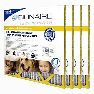 BionaireMD – Filtre à fournaise anti-odeurs Merv 11, 20 x 20, paquet de 4