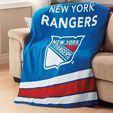 Sunbeam NHL Fleece Heated Throw, New York Rangers