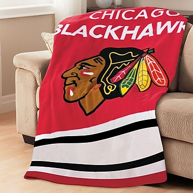 Sunbeam – Jeté chauffant en micropeluche de la LNH, Blackhawks de Chicago