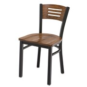 KFI Seating Cafe Side Chair; Walnut