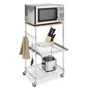 Whitmor, Inc Supreme Microwave Cart with Wood Top