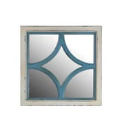 Privilege Diamond Wooden Wall Mirror