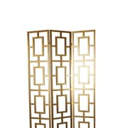 A&B Home Group, Inc 47'' x 80'' Screen 3-Panel Room Divider; Gilded gold