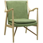 Modway Makeshift Upholstered Lounge Chair; Natural/Green