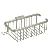 Deltana 10'' Rectangular Wire Basket with Hook; Brushed Nickel