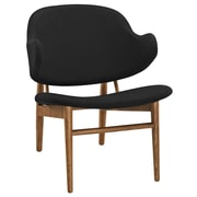 Modway Suffuse Lounge Chair; Maple / Black