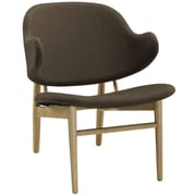 Modway Suffuse Lounge Chair; Natural / Brown