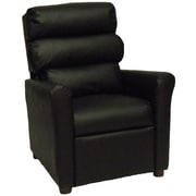 Brazil Furniture Children's Recliner; Vinyl Black