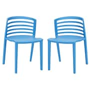 Modway Curvy Side Chair (Set of 2); Blue