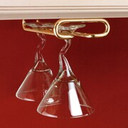 Rev-A-Shelf Hanging Wine Glass Rack; Brass