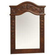 Ronbow Bordeaux Traditional 24'' x 34'' Solid Wood Framed Bathroom Mirror in Colonial Cherry