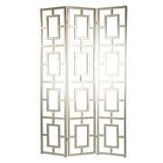 A&B Home Group, Inc 47'' x 80'' Screen 3-Panel Room Divider; Silverleaf