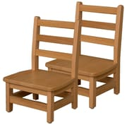 Wood Designs 8'' Solid Birch Hardwood Classroom Chair  (Set of 2)