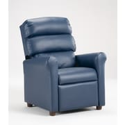 Brazil Furniture Children's Recliner; Vinyl Blue
