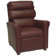 Brazil Furniture Children's Recliner; Vinyl Burgundy