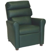 Brazil Furniture Children's Recliner; Vinyl Green