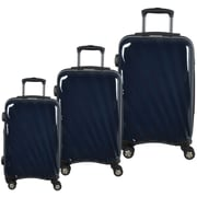 McBrine Light Weight 100% Polycarbonate 3-Piece Hard Sided Luggage Sets on 360 Degree Swivel Wheels with TSA Lock