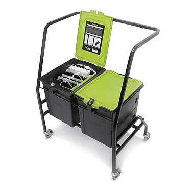 Copernicus Tech Tub™ Cart with 2 Premium Tech Tubs, Holds 12 Tablets
