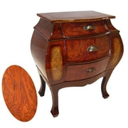 Cheungs Wooden 3 Drawer Curved Cabinet w/ Scoop Handles