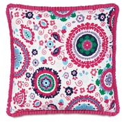 Hen Feathers Epic Preppy Pleated Ribbon Down Throw Pillow