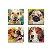 Portfolio Canvas Dog Beagle by Sandy Doonan 4 Piece Painting Print on Wrapped Canvas Set