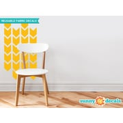 Sunny Decals Chevron Arrows Fabric Wall Decal (Set of 26); Yellow Orange