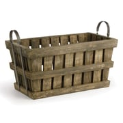 Napa Home & Garden Orchard Crate Decorative Bowl with Handles