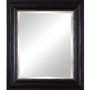 Art Effects Vanity Beveled Mirror; Rustic Black/Distressed Silver Lip