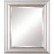 Art Effects Vanity Beveled Mirror; Textureed Silver/Distressed Nickel Lip