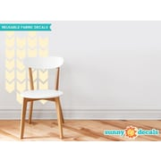 Sunny Decals Chevron Arrows Fabric Wall Decal (Set of 26); Ivory