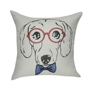 Loom and Mill Dachshund Decorative Cotton Throw Pillow; Cream