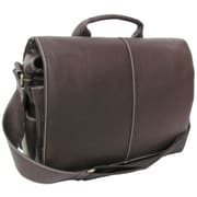 AmeriLeather Legacy Leather Woody Portfolio with Laptop Sleeve; Dark Brown