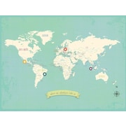 Children Inspire Design My Travels Personalized World Map Graphic Art