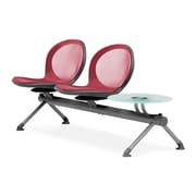 OFM Net Series Two Seats and One Table Beam, Red (NB-3G-RED)