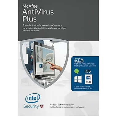 McAfee Anti-Virus Plus, PC/Mac/Mobile, Unlimited Devices
