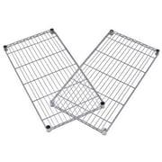 """OFM 48""""W x 24""""D Steel Wire Shelves, Silver (S4824-2PK-SLVR)"""