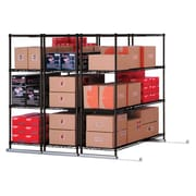 "OFM X5 Lite Three Four-Shelf Units, 48"" x 24"", Tracks Included, Black (X5L3-4824-BLK)"