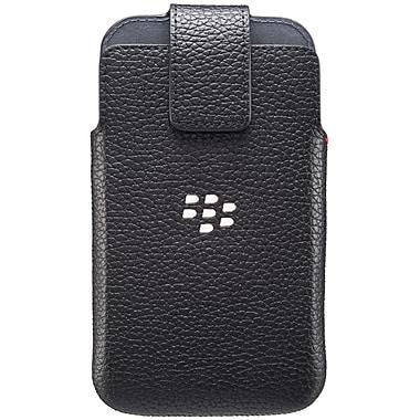 BlackBerry – Étui pivotant en cuir classique, noir