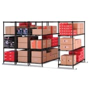 "OFM X5 Lite 4 36""W x 24""H Four-Shelf Units, Black, Tracks Included (X5L4-3624-BLK)"