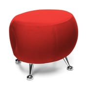 OFM Jupiter Series Stool, Red with Chrome Feet (2001-2312)